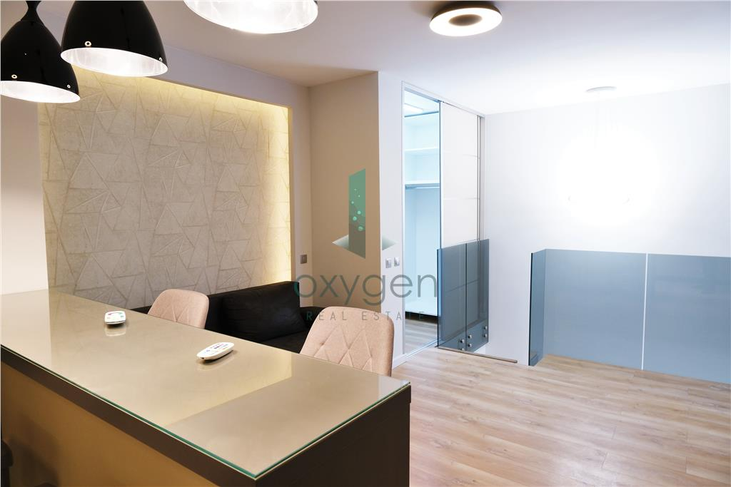 Apartament ultrafinisat pe 2 niveluri + boxa, bloc nou in Buna Ziua