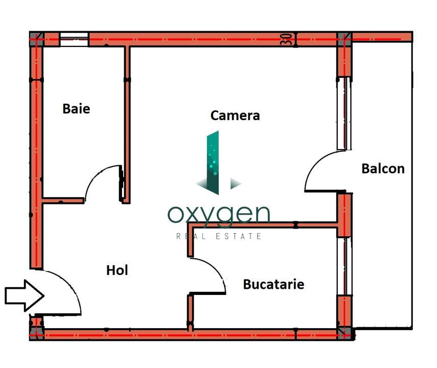 1 camera decomandata in zona de case, PARCARE, TVA inclus!