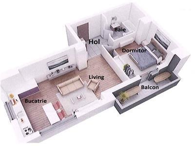 Apartament semifinisat zona IULIUS cu CF si PARCARE, etaj intermediar!