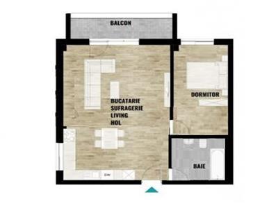 Apartament FINISAT 2 camere cu CF, zona Calea Turzii, Parcare inclusa