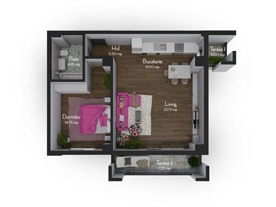 Apartament 2 camere semifinisate, zona OMV Calea Turzii, TVA inclus!