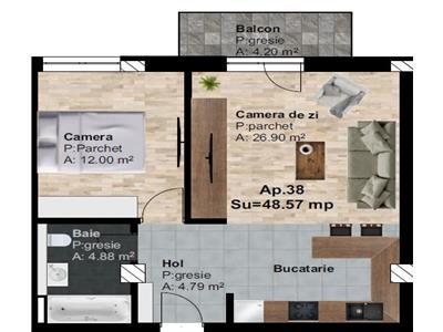Apartament cu o camera, decomandat, Cartier Someseni, zona Ira