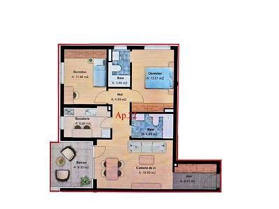 Apartament 3 camere, cartier Andrei Muresanu, zona Grand Hotel Italia