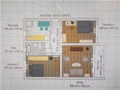 Apartament cu 3 camere Decomandate, balcon, Gheorgheni!