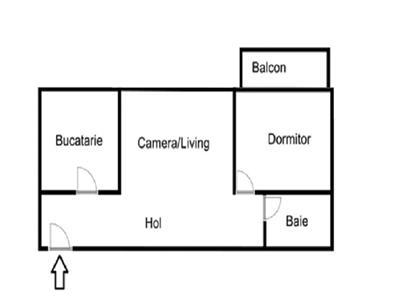 Apartament 2 camere nefinisat, Gheorgheni