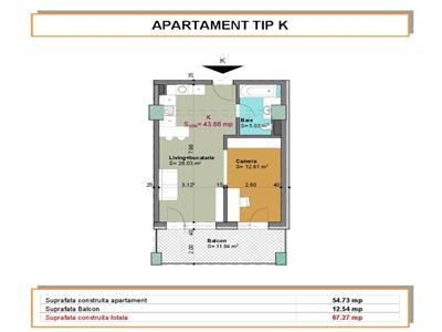 2 camere, 49mp+13 mp terasa, et. intermediar Viva City