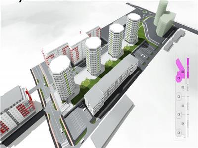 Apartament cu o camera, 51 mp, constructie noua, et. intermediar