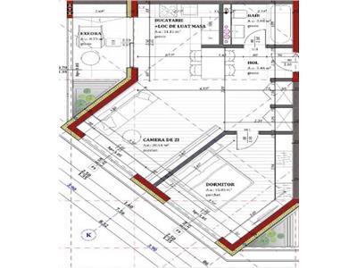 Apartament cu 2 camere, 61 mp, constructie noua, et. intermediar