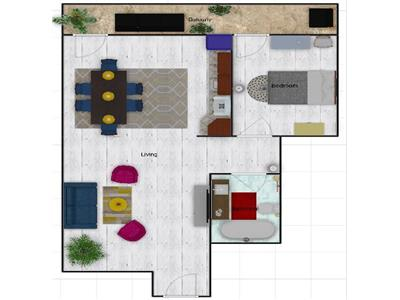 2 camere finisate, 52 mp, bloc nou, 8 mp balcon, Buna Ziua