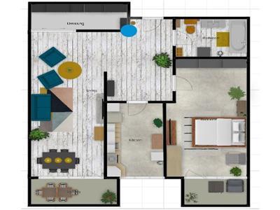 2 camere decomandate, 59 mp, Floresti