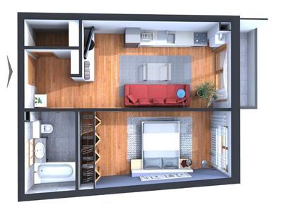Apartament semifinisat cu CF in bloc NOU, str. Traian, zona Centrala