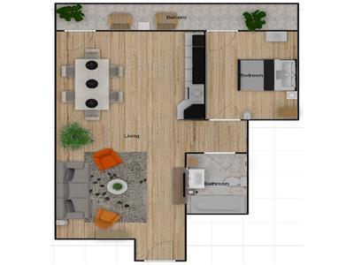 Apartament cu 2 camere FINISATE, 52 mp, bloc nou,  Buna Ziua