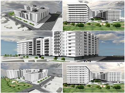 Apartament semifinisat cu 2 camere, constructie 2019, str. Marasti