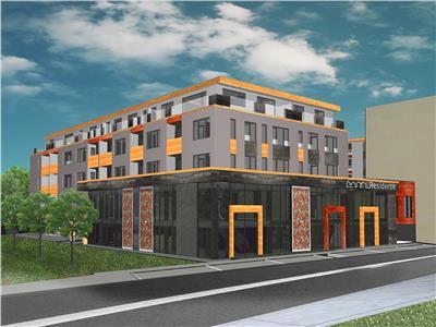 Apartamentcu terasa in bloc NOU, 9 minute de mers de PARCUL CENTRAL